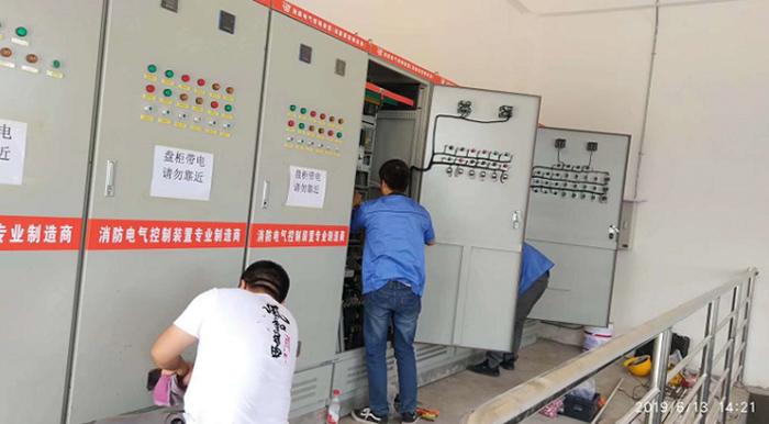 银川单晶电池厂房消防泵控制柜等产品使用案例