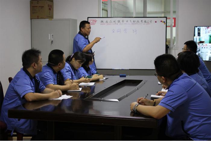 众利联合李总对销售部进行了培训会议