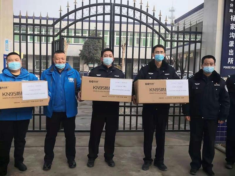 众利联合电气团队向杨家沟派出所防疫工作者致敬1!